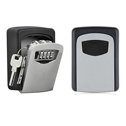 NUZAMAS Key Lock Box Large Storage Box Holds up to 5 Keys for Outside Master Key with Waterproof Case Wall Mounted for Homes, Business, Realtors, Rental Properties Keys Pick Up Point