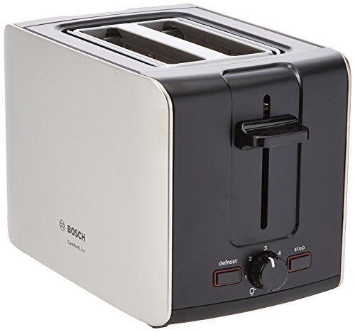 Bosch City II TAT6A913GB Toaster, 2 Slot - Silver
