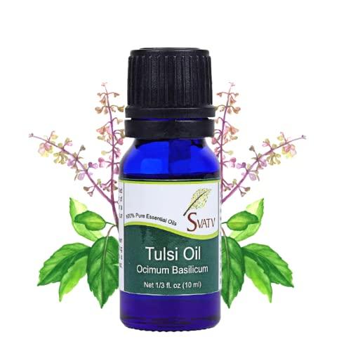 Monte Svatv tulsi Ätherisches Öl aromatherapie in therapeutischer qualität duftöl für diffusor yoga massage & diy körperpflege 10 ml