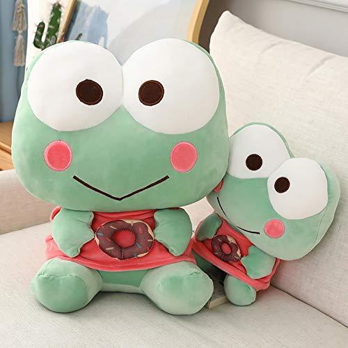 Juguetes interactivos de Felpa, Lindo Donut Frog, Almohada de Felpa, Juguete para niños, Lindo muñeco de Rana para Regalo de cumpleaños de Chico, Rana de 45 cm / 17,7 Pulgadas