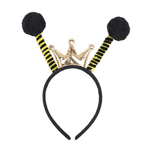 Amosfun Bienen Kopfschmuck Biene Haarreif Insekt Haarreif Krone Accessoire für Karneval Fasching Halloween Party Kostüm Verkleidung