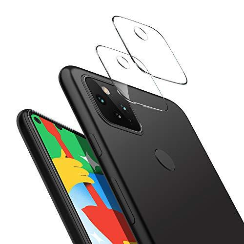 【2枚入】Google Pixel 5 カメラフィルム KUGI Pixel5 レンズ保護フィルム 硬度9H 高透過率 指紋防止 日本旭硝子製 耐衝撃 グーグル ピクセル 5 強化ガラスフィルム 気泡ゼロ 自動吸着 貼り付け簡単