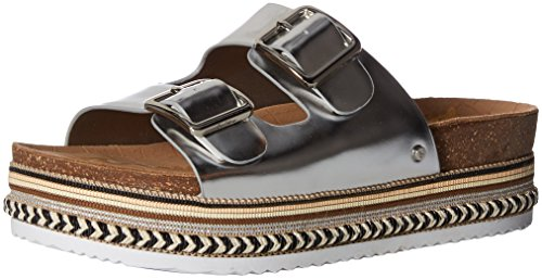Sam Edelman Women's Oakley Sandal, Soft Silver/Metallic Leather, 8 M US