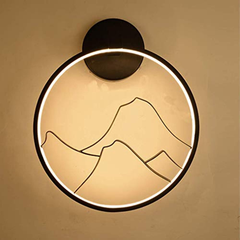 BESTHOO Sallypan ModeLED-Wandleuchte, Moderne Persnlichkeit runde NachtWandlampen für Wohnzimmer-Surround-Beleuchtung,Branch (Farbe   Mountain, Größe   -)