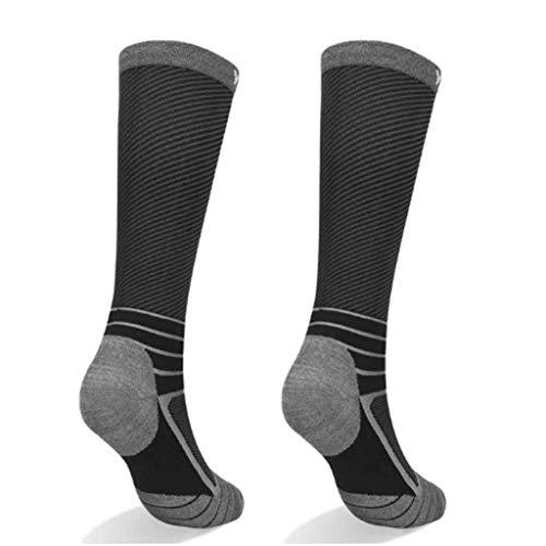 ZYING 10 Pares de Calcetines Deportivos para Hombres y Mujeres Calcetines Largos para Montar en Bicicleta con Fondo de Toalla en Tubo Calcetines para Correr maratón (Color : Black)