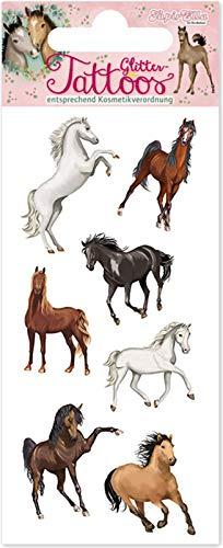 Tapirella Tattoo * Pferde * vom Mauder-Verlag | 49034 | Kindertattoo Kinder Geburtstag Mitgebsel Tiere Aufkleber