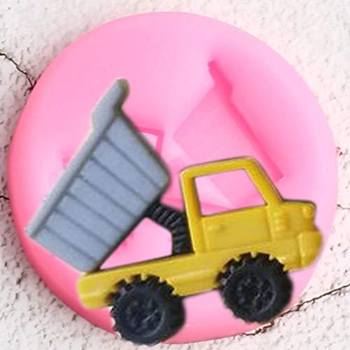 UNIYA Moldes de Silicona para camión volquete de Juguete 3D,decoración deCupcakes decumpleaños, Herramientas de decoración de Pasteles con Fondant,moldes deChocolate y Arcilla de Caramelo