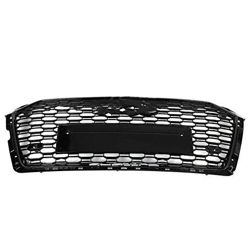FCCD Accesorios De Malla De Coche para Rs5 Style Front Sport Hexagonal Mesh Honeycomb Hood Grille Black , para Audi A5 / S5 B9 2017~2018 Accesorios De Coche