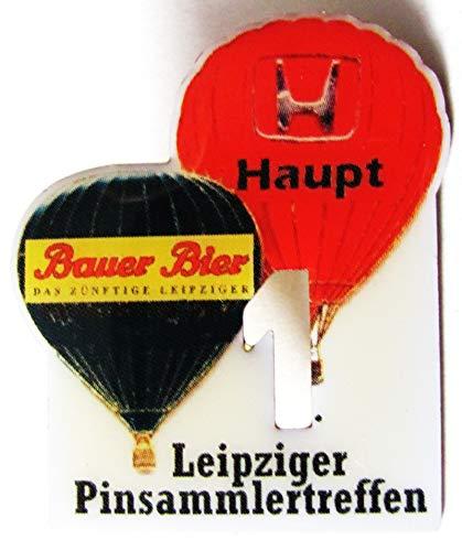 1. Leipziger Pinsammlertreffen - Bauer Bier & Auto Haupt - Ballon Pin 36 x 30 mm