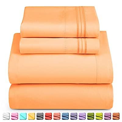 Nestl Bedding Sheet Set - 1800 Deep Pocket Bed Sheet Set - Hotel Luxury Double Brushed Microfiber Sheets - Deep Pocket Fitted Sheet, Flat Sheet, Pillow Cases