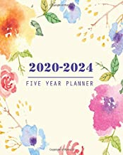 2020-2024 Five Year Planner: 60 Months Calendar, 5 Year Appointment Calendars, Business Planners, Agenda Schedule Organizer Logbook and Journal with pretty floral cover (2020-2024 Monthly planner)
