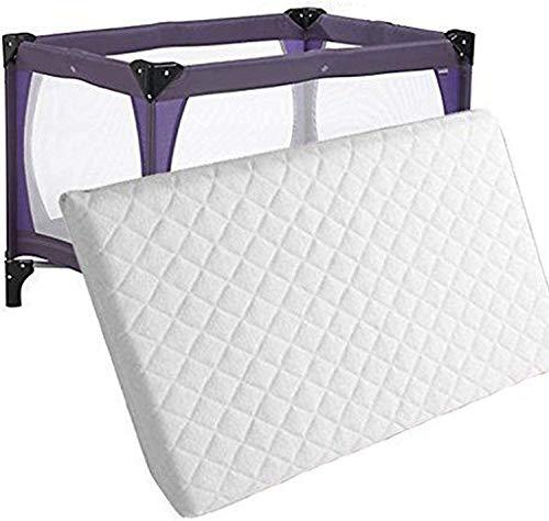 Colchón de espuma totalmente transpirable e impermeable | Colchón de bebé impermeable | Laura extra grueso 95 x 65 cm colchón de viaje para cuna de 7 cm de grosor