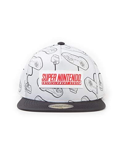 Nintendo SNES - Super Entertainment System - Controller Cap schwarz/grau one Size