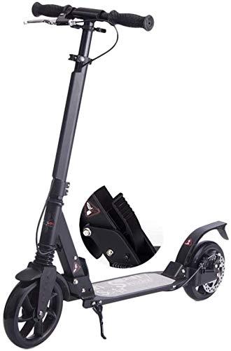 LILIS Patinetes para Niños Black Unisex Adult Kick Scooter con Amortiguadores, Scooter De Desplazamiento con Frenos De Disco, Paseo Liso Y Rápido, Soporte 100kg, No Eléctrico