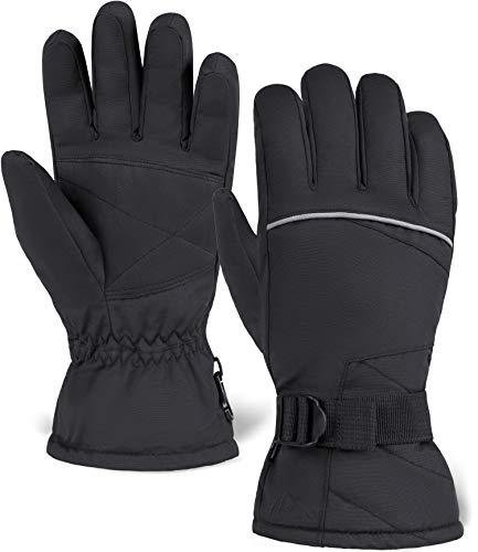 Tough Outdoors Winter Snow & Ski Gloves - Designed for Skiing, Snowboarding, Shredding, Shoveling & Snowballs - Waterproof & Windproof Shell & Reinforced Palm - Fits Men, Women & Kids
