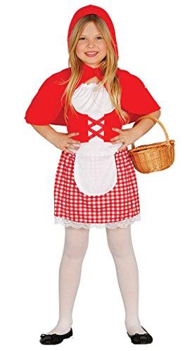 Guirca - Disfraz de Caperucita, talla 3-4 años, color rojo (85922)