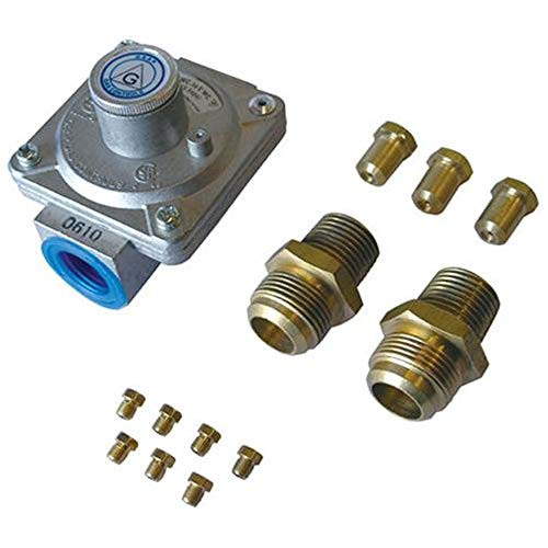 Cal Flame 089245002352 Propane to Natural Gas Conversion Kit, Stainless Steel Grill Valves