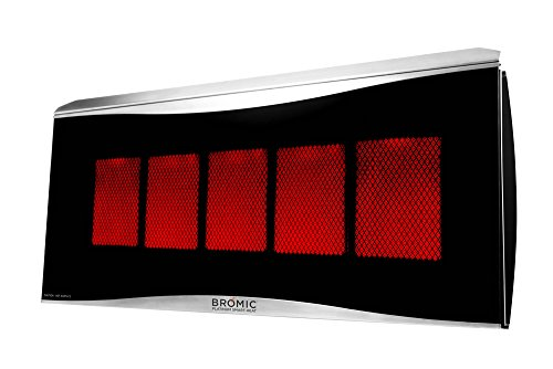 Best Buy! Bromic Heating BH0110004-1 Smart-Heat Platinum 500 Gas Radiant Infrared Patio Heater, Prop...
