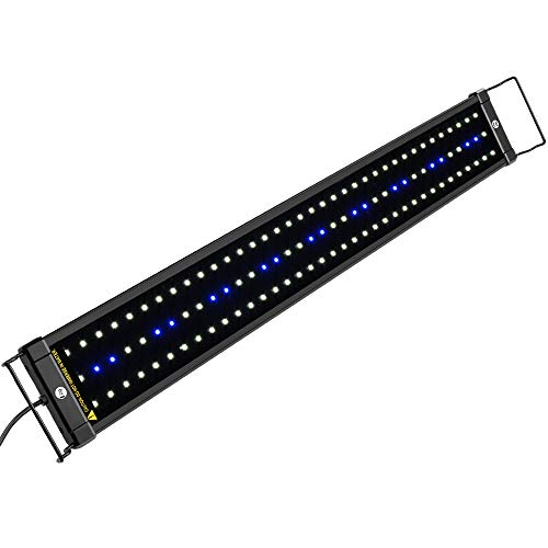 NICREW ClassicLED Aquarium Light, Fish Tank Light with Extendable Brackets, White and Blue LEDs,...