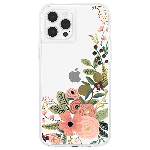 Rifle Paper Co - Case for iPhone 12 and iPhone 12 Pro (5G) - 10 ft Drop Protection - 6.1 Inch - Garden Party Rose