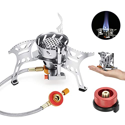 41PRuIXz4HL Portable Camping Gas Stove with Piezo Ignition (3700W, Windproof, Carry Case)
