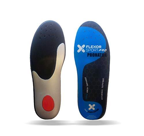 Desconocido FlexorSport deportivas para pie pronador FX7 018. Plantillas trail running absorción de impactos made in Spain de fibras carbonium y látex. (45)