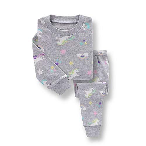 1-7Years Niños Pijamas Ropa De Bebé Conjunto De Niños Unicornio Dibujos Animados Ropa De Dormir Otoño Algodón Ropa - - 120 cm