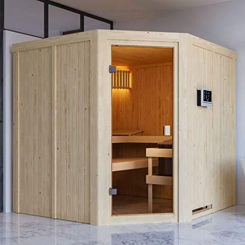 KARIBU. Woodfeeling Aktions Sauna Kotka (inkl. 9 kW Bio Kombiofen externe Steuerung Easy)