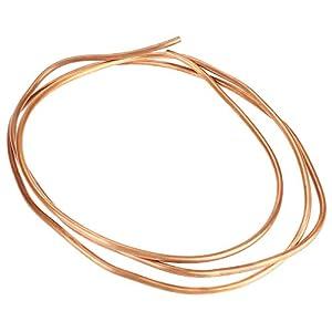 2m T2 ID de Bobina de Alambre de Cobre Suave 4 Mm OD 5 mm de espesor 0.5 mm Tubo de Tubería Alta Ductilidad Buena Conductividad Eléctrica Para Tuberías de Refrigeración