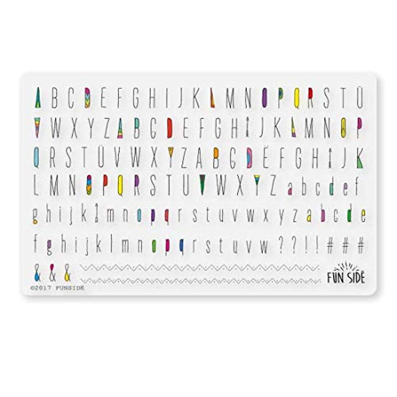 第二に演じる学部S048 / Indian alphabet/インディアンアルファベット/ネイルシール (black)