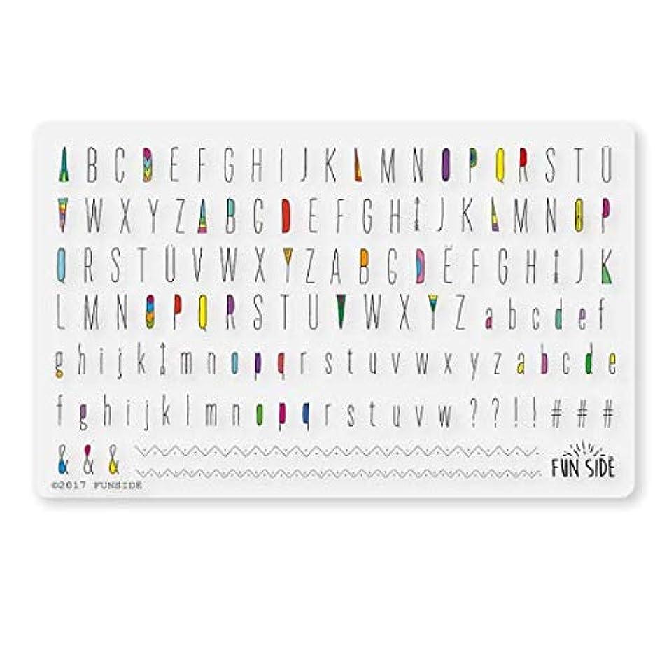 資本主義素人熟読S048 / Indian alphabet/インディアンアルファベット/ネイルシール (black)