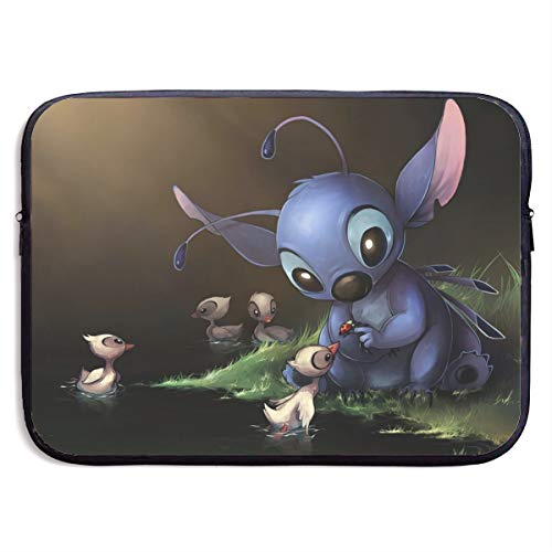 Cartoon Lilo Stitch 13-Inch to 15-Inch Laptop Sleeve Case- Waterproof Notebook Computer Bag-Light and Comfortable Tablet Briefcase-Band Zipper Portable Handbag