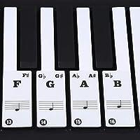 ピアノステッカーリムーバブルピアノステッカーリムーバブルピアノキーボードステッカー電子ピアノステッカー61/88キー電子ピアノ(black)