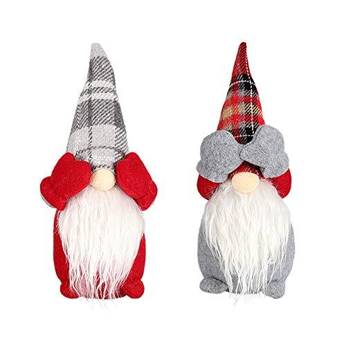 YUIP Gnomo di Babbo Natale 2 Babbo Natale Gnomo Elfo Nordico ,Gnomo Svedese Babbo Natale Bambole Ornamento Bambola Senza Volto per la Casa Regalo di Capodanno