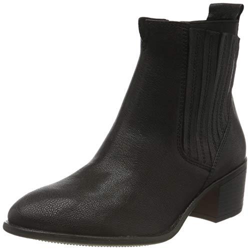MARCO TOZZI Damen 2-2-25313-25 Leder Boot Chelsea-Stiefel, Black Antic, 41 EU