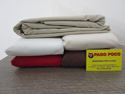 Pago wenig Bettlaken Maxi mit Ecken Bett Doppelbett 100% Baumwolle Die Träume Mis. 180x 200+ 25cm. grau