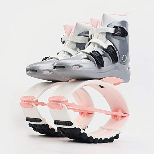 Kangoo Jump Boots Für Erwachsene, Bounce Shoe Jumps Rebound Schuhe, Unisex Fitness Jumps Dance Bounce Shoes Jumps Running Boots Anti-Gravity Bouncing Schuhe Jumping Shoes,Pink White,XL (Size 39/41)
