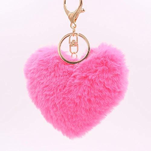 zeenca llavero de coche ,llavero de bolsillo inteligente regalo ( 2PCS) Rosa roja