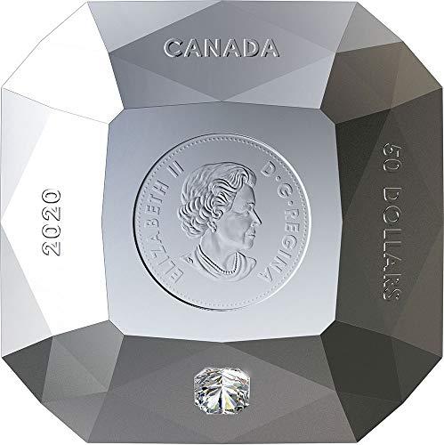 Power Coin FOREVERMARK Diamond 3D Shaped Moneda Plata 50$ Canada 2020