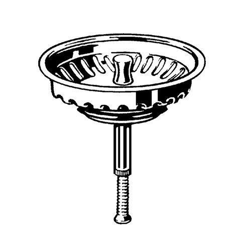 Siebkorbeinsatz für Villeroy und Boch Spülen. Für Ablauf mit