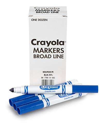 Crayola Blue Markers, Broad Line Markers, 12 Count, 58-7700-042
