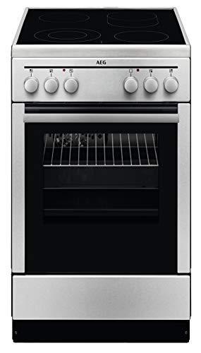 AEG 40095VD-MN 50 cm Standherd mit Glaskeramik-Kochfeld / Bräterzone / Mehrkreiskochzone / Grillfunktion / A