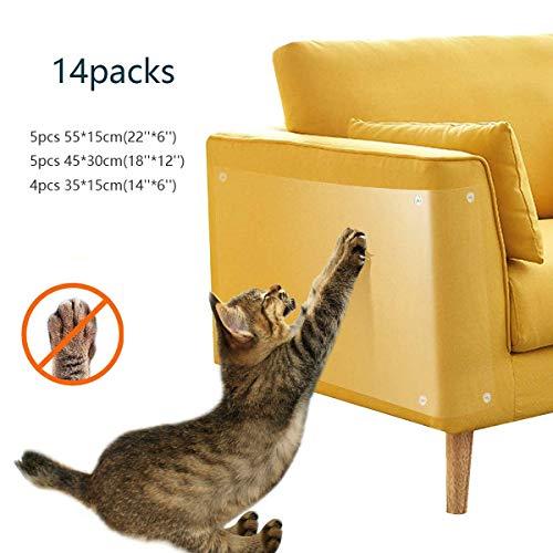 Cat Scratch Möbel-Schutz-Auflage Abschreckungs mit Pins, Katze Kratzbrett Couch-Schutz-Schutz for den Schutz von Polsterleder Sofa (Color : 14pcs)