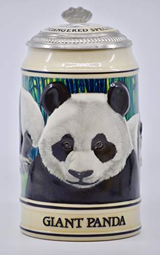 1992 - Anheuser-Busch Inc/Ceramarte - Budweiser Endangered Species Series - Giant Panda Stein - Numbered - Rare - Collectible