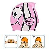 Superpop - Cuffia da nuoto per bambini, in morbido silicone, motivo: pesci rossi, a prova di perdite, per adolescenti e ragazzi