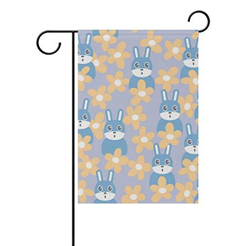 Drapeau de jardin FANTAZIO avec inscription « Lovely Bunny », Polyester, 1, 12x18(in)