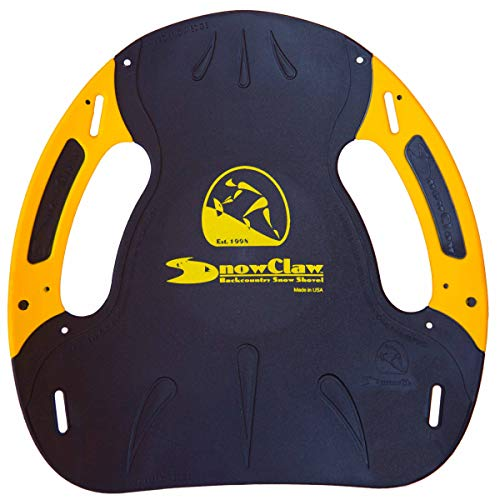 SnowClaw - Backcountry Snow Shovel, Flexible and Lightweight Shovel and Multi-Use Snow Tool - Yellow