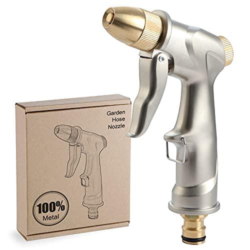 Fippy Pistola da Giardino in Metallo, Pistola a Spruzzo d'acqua da Giardino ad Alta Pressione con...