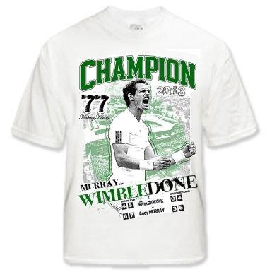 T-shirt Andy Murray 2013 Wimbledon Champion