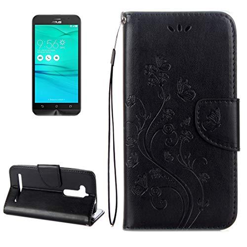 SHUFEIVICC - Funda de piel con tapa horizontal para ASUS Zenfone Go ZB500KL con tarjetero, tarjetero y cartera (color: marrón)